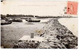 Valras Plage - La Digue Et Le Port ( Cachet Hexagonal Perlé ) - France