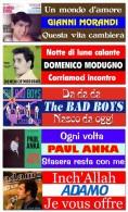 047> Lotto Di 5 STICKERS Per JUKE BOX - Gianni Morandi - Modugno - Adamo - Paul Anka - The Bad Boys = LEGGI - Collectors