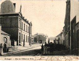 Luxembourg 1 CP Saint Léger  Rue Hôtel De Ville  1906    Eglise 1909  Ferme Du Temple Petit Lannoy La Place - Saint-Léger