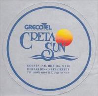 GREECE CRETE HOTEL EL GRECO CRETA SUN VINTAGE LUGGAGE LABEL