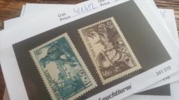 LOT 217972 TIMBRE DE FRANCE NEUF** N�451/452 VALEUR 12 EUROS