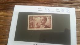 LOT 217986 TIMBRE DE FRANCE NEUF** N�418 VALEUR 20 EUROS
