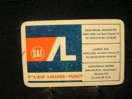 Playcard - 1 Dos De Carte A Jouer,avec Publicitè - Ste L'Air Liquide-Furet ( Poste A Soude) Agentschap Noord Wilrijk - Cartes à Jouer