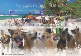 VANUATU ; SCOTT # ; IGPC 1301 SS ; MINT N H STAMPS ( DOGS - Vanuatu (1980-...)
