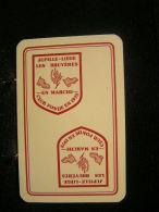 Playcard - 1 Dos De Carte A Jouer,avec Publicitè - Jupille-Liège, Les Bruyères ..en Marche.... Club Fonde En 1973 - Cartes à Jouer