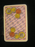 Playcard - 2  Dos De Carte A Jouer,avec Publicitè - Fortis Bang, Pièces D'euros - Cartes à Jouer