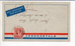 """1934 CAD Manuel Aubervilliers Sur Semeuse Lignée,enveloppe De France Pour La France Par Avion """"Aéropostale"""" Pour Clamart - Poststempel (Briefe)"""