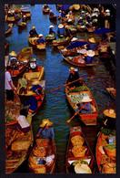 *Floating Market. Only Can Be See In...* Circulada 1981, Sólo Matasellos Rodillo Tinta Roja. Leves Señales De Uso. - Tailandia