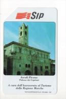 Scheda Telefonica SIP - Serie Turistica - Ascoli Piceno - Palazzo Dei Capitani - Pubbliche Speciali O Commemorative