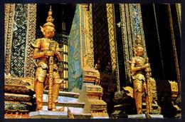 Bangkok. *Two Metal-Giants Guarding...* Circulada 1977. Señales De Uso. - Tailandia