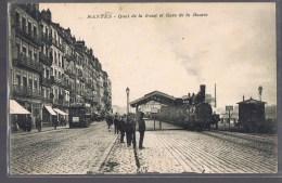 NANTES . Quai De La Fosse Et Gare De La Bourse . - Nantes