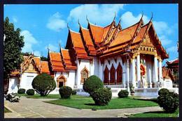 Bangkok. *Wat Benjamabophitr, Marble Temple...* Circulada. Air Mail Label. - Tailandia