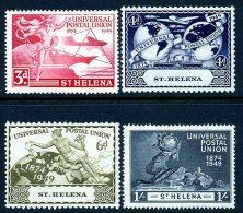 St. Helena GVI 1949 UPU Set Of 4, MNH - Isla Sta Helena