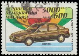 Malagasy Scott #1112, 3000fr multicolored (1993) Automobile Series (Honda), Used