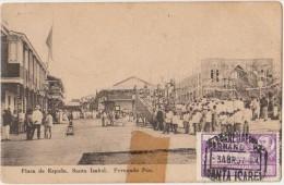 CPA FERNANDO POO EX GUINEE ESPAGNOLE SANTA ISABEL Plaza de Espana Timbre Stamp