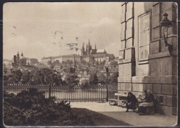 5718. Czechoslovakia, 1943, Prague Castle, Postcard - Tsjechië