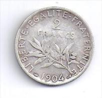 2 Francs  Semeuse 1904