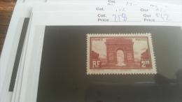 LOT 218017 TIMBRE DE FRANCE NEUF* N�258 VALEUR 42 EUROS