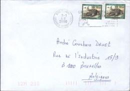 Burkina Faso 2000 Postal Cover Ouagadougou - Brussels Crocodile - Burkina Faso (1984-...)