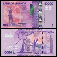 UGANDA 10000 SHILLINGS 2013 PICK 52C NEW SC UNC - Uganda