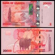 UGANDA 20000 SHILLINGS 2010 PICK 53A SC UNC - Uganda