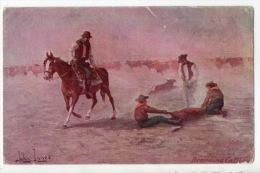 "ÉTATS-UNIS . COWBOYS . ILLUSTRATEUR: JOHN INNES . "" TROILENE "" RANCHING SERIE - Réf. N°2100 - - Indiani Dell'America Del Nord"