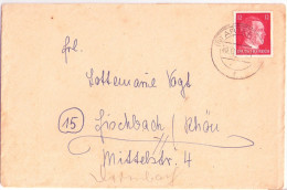 Brief M Frühem Postleitzahlenstempel (10) ARTERN Sachsen Anhalt 29.12.1944 M Inhalt Nach Fischbach Rhön  BDM Lager - Deutschland
