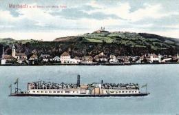 """MARBACH A.d.Donau Mit Maria Taferl, Rad-Dampfer, 1902, TOP-Karte, Gelaufen Um 1902?, Werbestempel """"""""Mahr's Gasthof Zum G - Sonstige"""