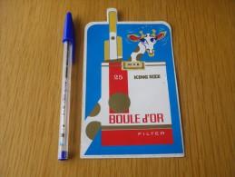 Autocollant - Cigarettes BOULE D'OR Tabac - Girafe - Autocollants