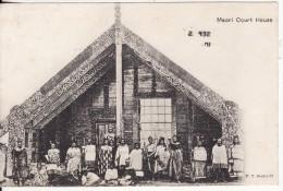 Gruss Aus SAMOA (Océanie-Nouvelle -Zélande) Maori Court House-2 SCANS - Nouvelle-Zélande