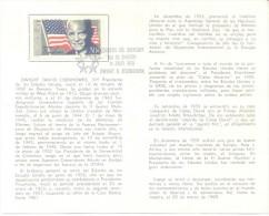 DWIGHT EISENHOWER VOLANTE PRIMER DIA DE EMISION FDC URUGUAY AÑO 1970 RARE
