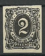 Deutsches Reich Privater Stadtpost HEIDELBERG - Privatpost