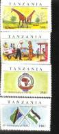 TANZANIA   1660-3  MINT NEVER HINGED SET OF STAMPS ; POSTAL UNION ; ANIMALS - WILDLIFE - Stamps