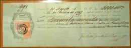 Italy: CCASSA DI RISPARMIO DI RONCAGLIONE  CAMBIALE Letter / Bill With .3 X Fiscal Stamp, 1896 - 1878-00 Umberto I