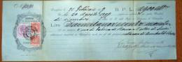 Italy: CCASSA DI RISPARMIO DI RONCAGLIONE  CAMBIALE Letter / Bill With .2 X Fiscal Stamp, 1899 - 1878-00 Humbert I.