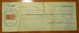 Italy: CCASSA DI RISPARMIO DI RONCAGLIONE  CAMBIALE Letter / Bill With .2 X Fiscal Stamp, 1904 - Fiscale Zegels