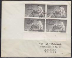 5748. Indonesia, 1961, Letter From Jakarta To Haarlem - Indonésie