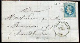 72402 - 29A Losange Ambulant LP Cachet Convoyeur Station PONTANEVAUX (70) LY.MAC TB - Bahnpost