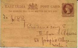 Entier Avec Repiquage (voir Verso) - India (...-1947)