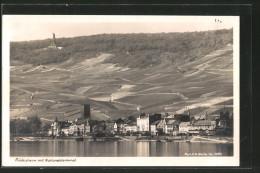 AK Rüdesheim Am Rhein, Panorama Mit Nationaldenkmal - Ruedesheim A. Rh.