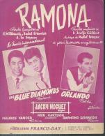 ORLANDO / LES BLUE DIAMONDS  Partitions - RAMONA  - éditions FRANCIS-DAY  ( PARTITION ) - Non Classés