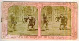 Photo Stéréo  Les Théâtres De Paris  N°9  FAUST  Le Duel   Mauvais état - Stereoscopio