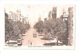 RP TRAM TROLLEY ON Collins Street LOOKING WEST THE ROSE SERIES P 591 Melbourne Victoria Australia   UNUSED - Melbourne