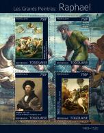 tg14318a Togo 2014 Painting Raphael s/s Archery Horse Crane