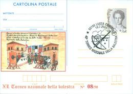 LUCCA - 40^ TORNEO BALESTRA - CARTOLINA INTERO POSTALE - SOPRASTAMPA  PRIVATA - Tir à L'Arc