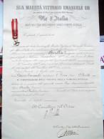 Onorificenza E Diploma 1921 Cavaliere Gran Maestro Dell'Ordine Della Corona D'Italia, Bologna. - Insegne