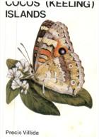 (336) Australian - Cocos Island Map + Butterfly - Cocos (Keeling) Islands