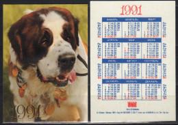 USSR 1991   1 V Dogs Dog Chien Chiens Hund Hunde Cane Cani Hond Honden - Calendari