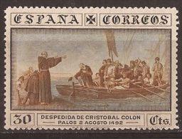 ES540-LA382TT.TRANSPOR TE .España.Spain.   Espagne.DESCUBRIMIENTO  DE AMERICA.1930. (Ed 540*) Con Charnela.MAGNIFICO - Transporte