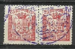 ANDORRA- CONSELL GENERAL DE LES VALLS. SELLOS SIN VALOR POSTAL MATASELLADOS  (C-U-E. C.08.14) - Sellos
